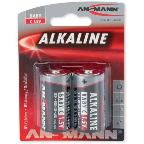 Babyzellen ANSMANN LR14 Baby-C RED Alkaline 2er Pack