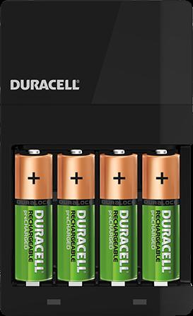 Duracell CEF14 inklusive 2 x AAA / 2 x AA 4-Stunden-Ladegerät