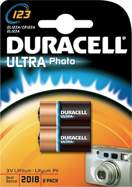 CR123a DURACELL Ultra Photo 123 2er Pack