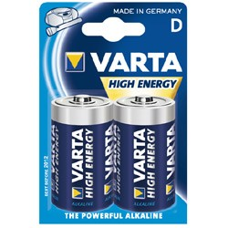 Monozellen VARTA LR20 Mono-D High Energy 4920 2er Pack