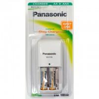 Panasonic BQ-CC06E Ladegerät inklusive 2x AA