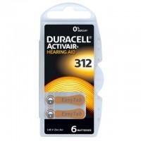 Typ 312 Hörgerätebatterien DURACELL ACTIVAIR PR41 6er Pack
