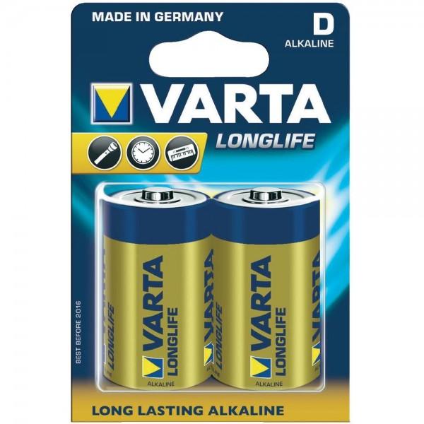 Monozellen VARTA LR20 Mono-D Longlife Extra 4120 2er Pack