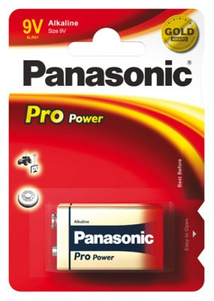 9V Batterie PANASONIC 6LR61 9V-Block Pro Power 1er Pack