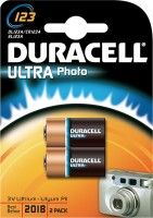 CR123a Duracell 123 Ultra Photo 2er Pack