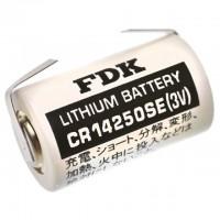 FDK CR14250SE Lithium 1/2AA mit U-Lötfahne