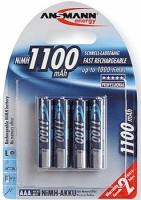 AAA Akkus ANSMANN 1100 mAh LR03 Micro Professional 4er Pack