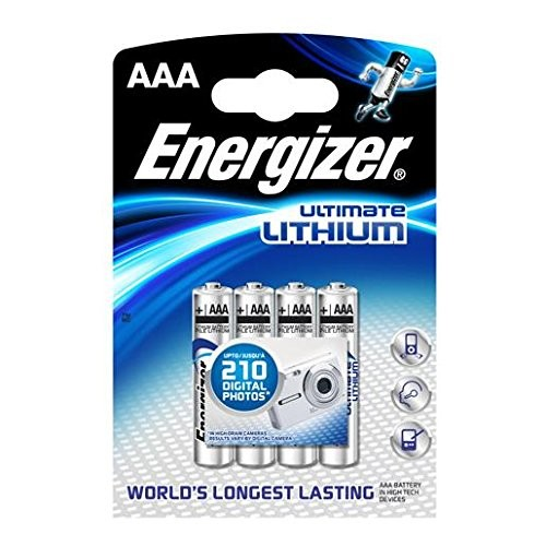AAA Batterien ENERGIZER LR03 Micro Ultimate Lithium L92 4er Pack