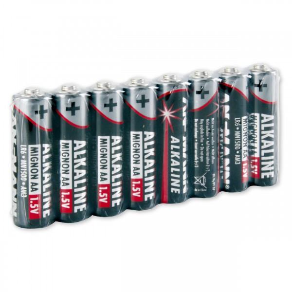 AA Batterien ANSMANN LR06 Mignon RED Alkaline 8er Pack