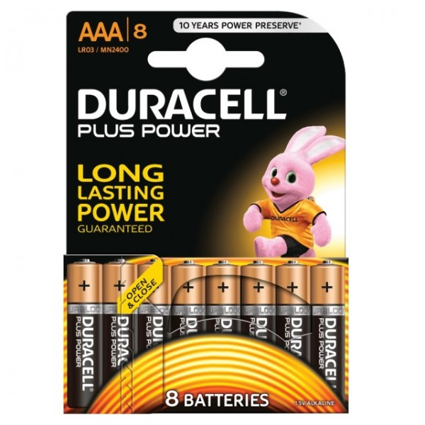 AAA Batterien DURACELL LR03 Micro MN2400 Plus Power 8er Pack