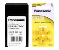Typ 10 Hörgerätebatterien PANASONIC PR10 PR70 60er Pack